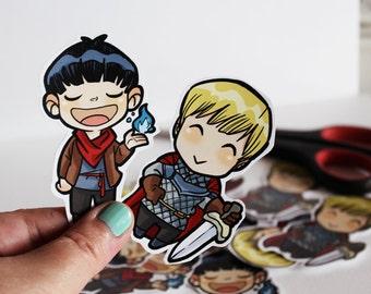 Merlin & Arthur BBC - stickers