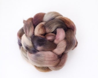 Wool Roving, Hand Dyed Spinning Fiber, 100% Cheviot Wool, 100 grams