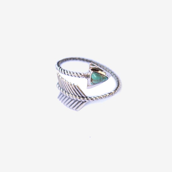 Arrow ring turquoise ring 925 sterling silver ring by for Jewelry storm arrow ring