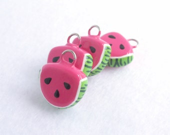 Watermelon Slice Charm - Handcrafted Polymer Clay Charm - Charm for Charm Bracelets, Earrings, and Cell Phone Charm