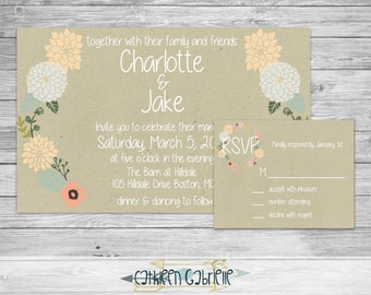 Floral Wedding / Invitation / RSVP / Printable