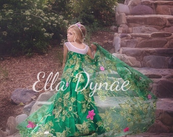 Frozen Fever Green Elsa Spring Dress