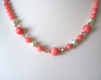 Coral and Pearl necklace.   great for summer.