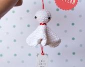 PATRÓN de Teru Teru Bozu amigurumi en crochet. Con paso a paso e instrucciones. PDF