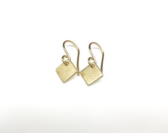 Gold Earrings square 8 333 mm gold