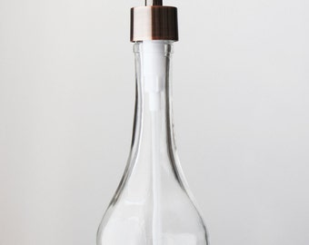 Rain Drop Recycled Glass Soap Dispensers- Clear Glass