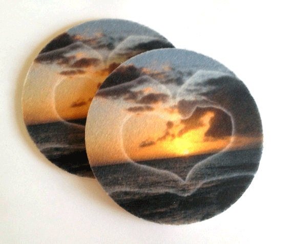Sunset absorbent drink coasters set makes a great gift - Drink coasters absorbent ...