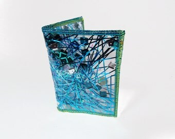 Iridescent Wallet Business Card Holder Turquoise Wallet Card Case