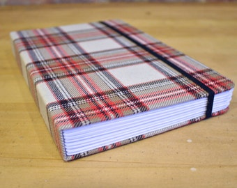 Plaid Sugarcane Paper Handmade Journal, Sketchbook, Notebook
