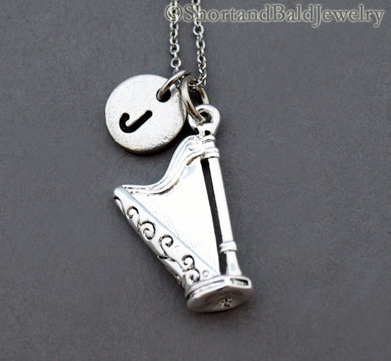 Harmonica Necklace: Harp Necklace Harp Charm Jewelry Single-action Pedal Harp