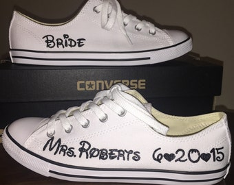 MADE TO ORDER - Dainty Bridal Converse