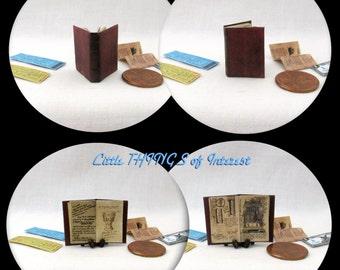 JONES DIARY Miniature Book Dollhouse 1:12 Scale Book Illustrated Book Indiana Jones Holy Grail Diary