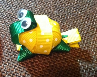 Yellow Turtle (3D) Hair Clip