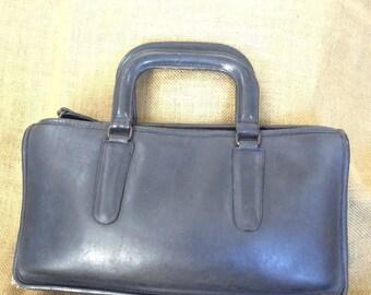 Vintage COACH Bonnie Cashin black leather briefcase brief  70s bohemian