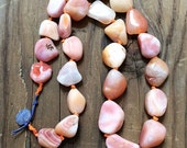 Sea Agate Necklace / Bohemian Necklace / Knotted Necklace / Gemstone Necklace