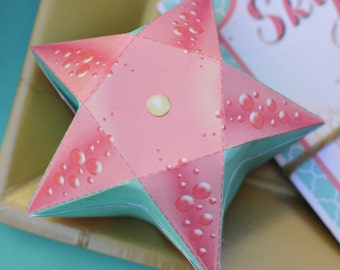 Instant Download Star Fish Candy Box / Mermaid Party (Printable by you & DIY - see measurements in listing)