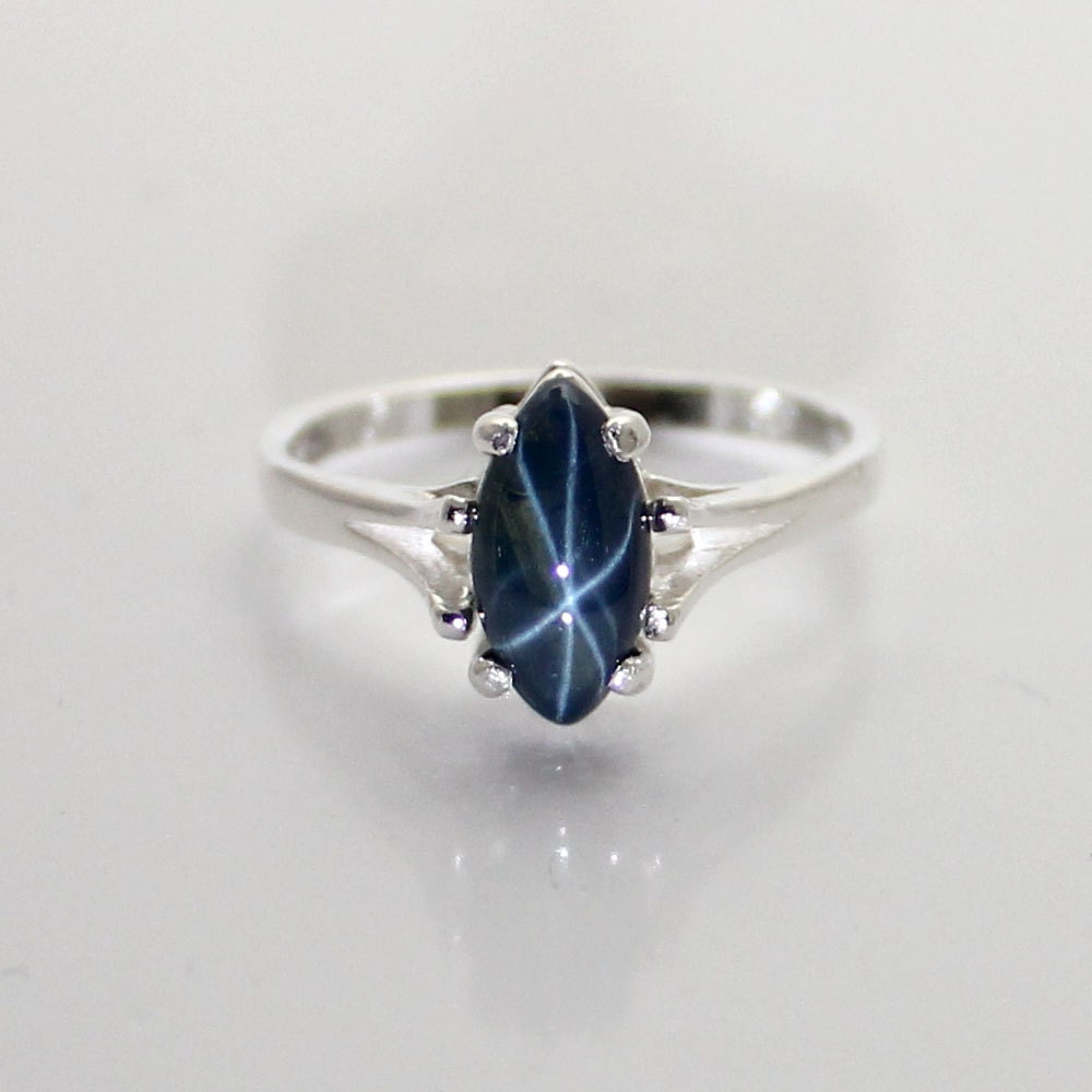 genuine 2 0ct blue sapphire ring sterling silver