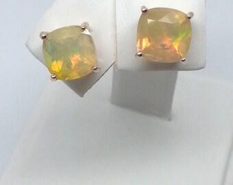2.04ctw Opal 10K Rose Gold Earrings
