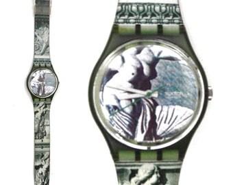 Vintage 90s Swatch Swiss Watch Cupydus GG112 Art Series Sculptures