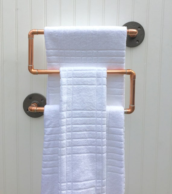 Copper Pipe Towel Rack Industrial Towel Bar Modern By