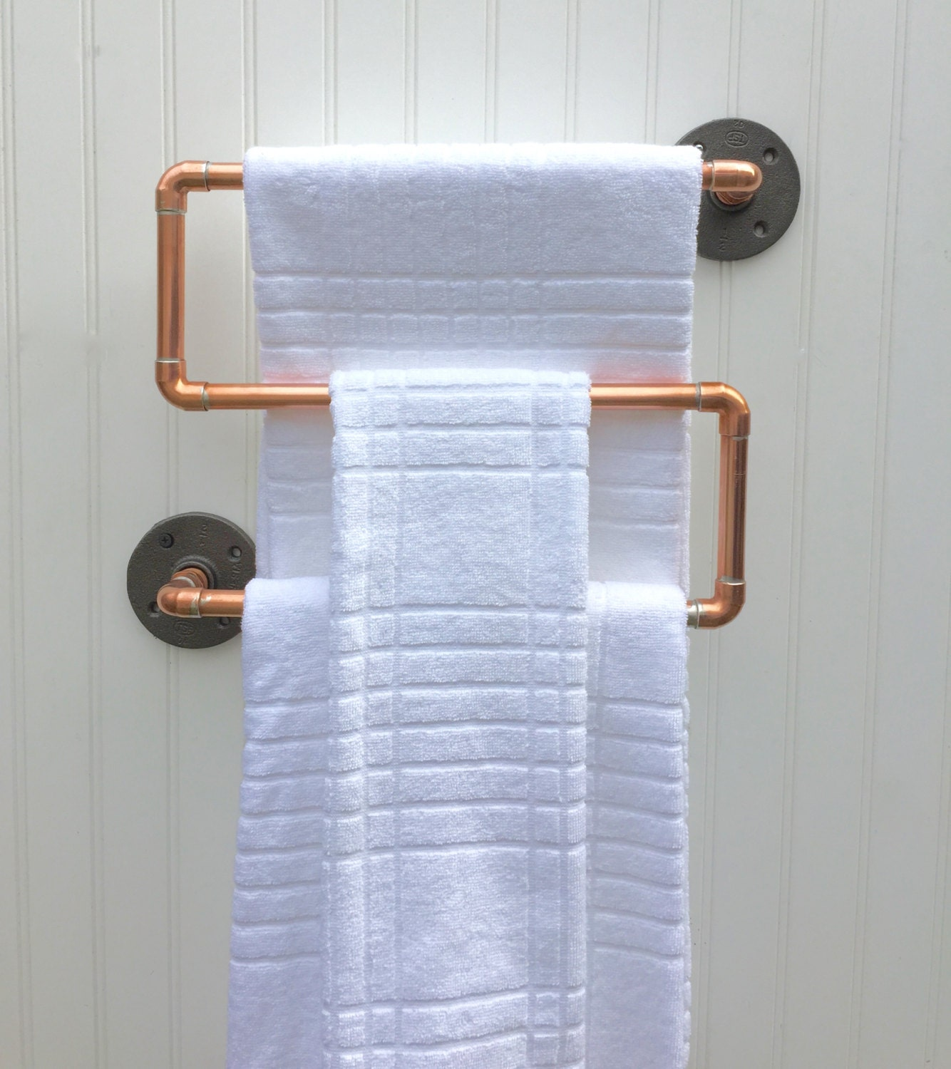Copper Pipe Towel Rack Industrial Towel Bar Modern By
