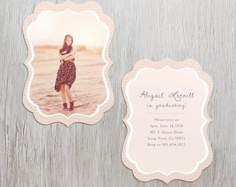 High School Senior Graduation Invite Luxe Card Template