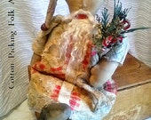 Santa Clause Old Tattered Quilt Clothing