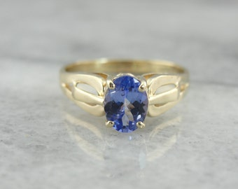 Oval Tanzanite Solitaire Ring JTHT82-D