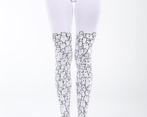 Super cute cat tights, cat pantyhose, gift for her