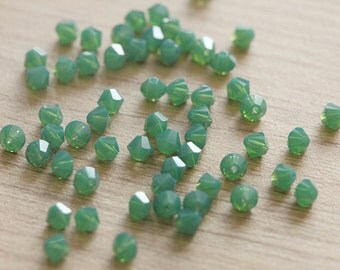 30 pcs of Palace Green Opal Swarovski Crystal Bicone Beads  - 4 mm