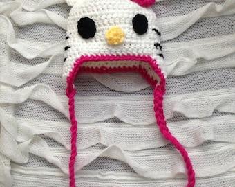 Hello kitty knit hat