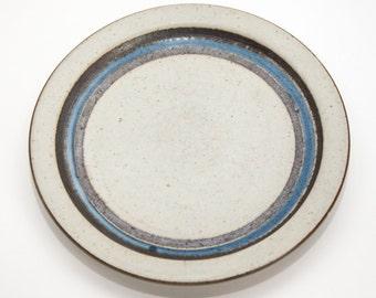 Blue and Brown Otagiri Horizon Stoneware Salad Plate
