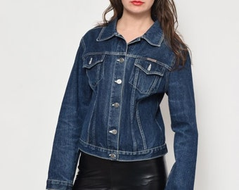 Vintage 90's navy Blue Denim Jacket