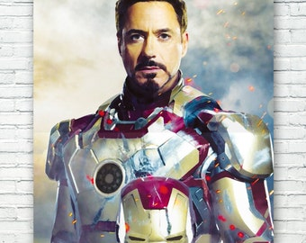 Robert Downey, Jr. Iron Man Art Print Poster