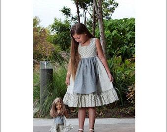 Pixie Faire Genniewren Designs Dora Dress For Girls 1-16 PDF Sewing Pattern