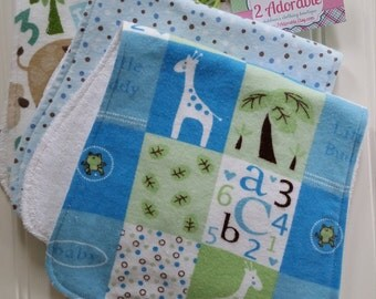Baby Boy Burp Cloths - Set of Three