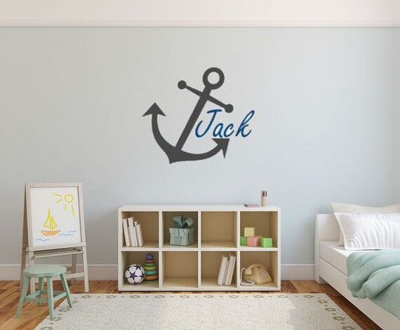 Anchor Wall Decal Nautical Wall Decal Large Anchor Vinyl Decal Nautical Vinyl Decal Nautical Nusery Decal Nautical Bedroom Decal