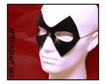 Ms Marvel diamond shaped superhero black leather mask flash trickster cosplay comic dc comicon villain costume masquerade carnival halloween