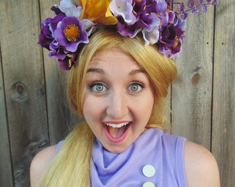 Caleigh's Crown Disney Inspired Princess Rapunzel Tangled Flower Crown