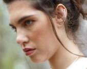 Sterling Silver Ear Cuff ∙ Edgy Ear Crawler, Straight Ear Climber Bar Earring Earring Cuff ∙ Minimalist Earring, Long Ear Cuff, Ear Jacket