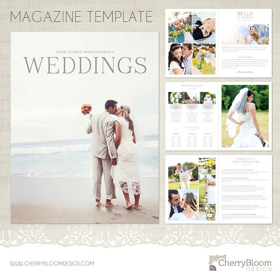 Weddings magazine template for photographers mag02 wedding for Wedding photography magazine template