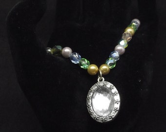 Multi-color Beaded Crystal Necklace
