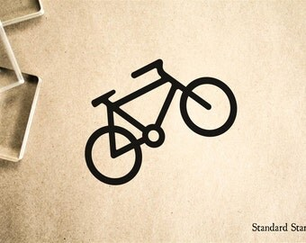 Bike Rubber Stamp - 2 x 2 inches