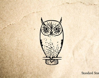 Hoot Owl Rubber Stamp - 2 x 2 inches