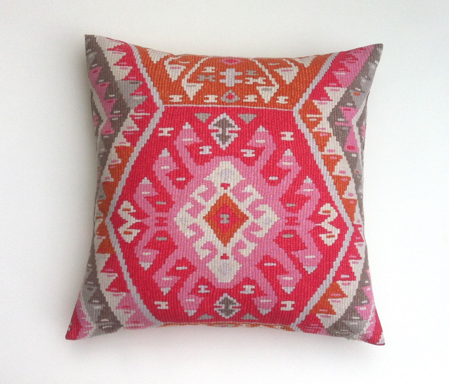 One PRINTED Sunset Pink Orange Decorative Zipper Pillow Cover
