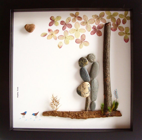 Wedding Gifts For Active Couples : ... Original COUPLES Gifts - Pebble Art - Love Gifts- Unique Wedding Gift