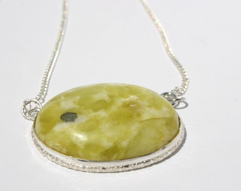 Serpentine Jade Pendant Necklace, Jade Necklace, protection necklace, clarity necklace, crown chakra necklace
