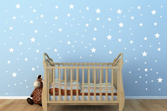 White Star Wall Decor : White star wall decals size for walls pieces