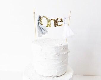5 inch mini cake topper- One Cake Topper Garland >> Fully Assembled