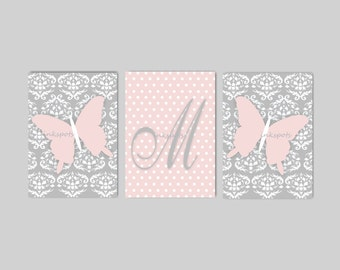 Butterfly Nursery Bedding Decor Butterfly Nursery Art Butterfly Art Butterfly Decor Damask Nursery Art Damask Print Choose Colors BF2632